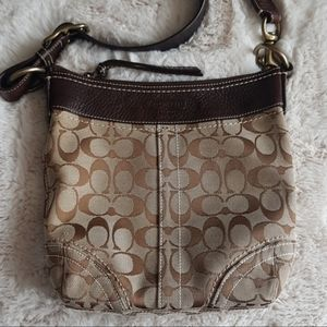 Coach Signature Crossbody with a Leather Strap